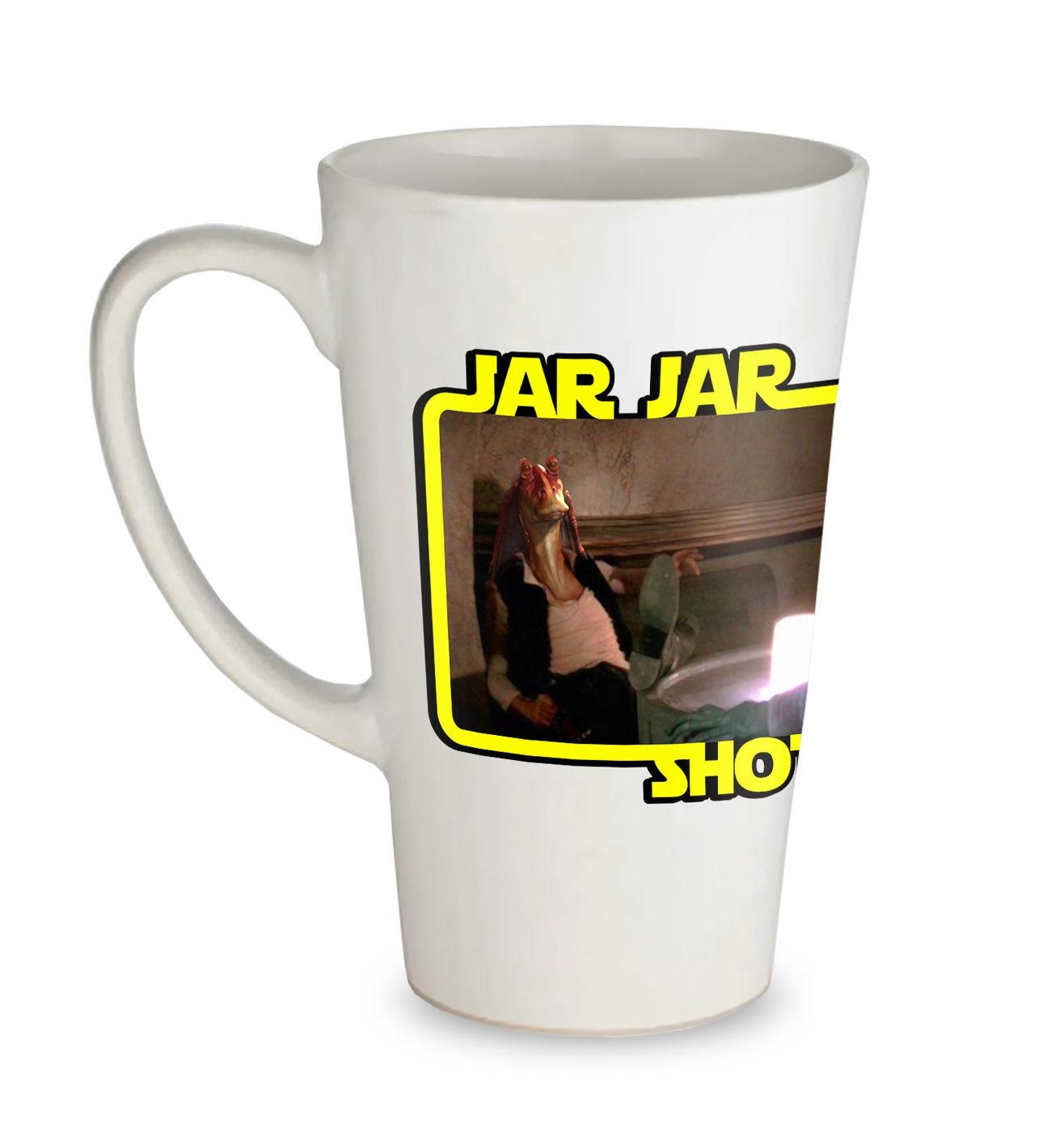 Jar Jar Shot First tall latte mug