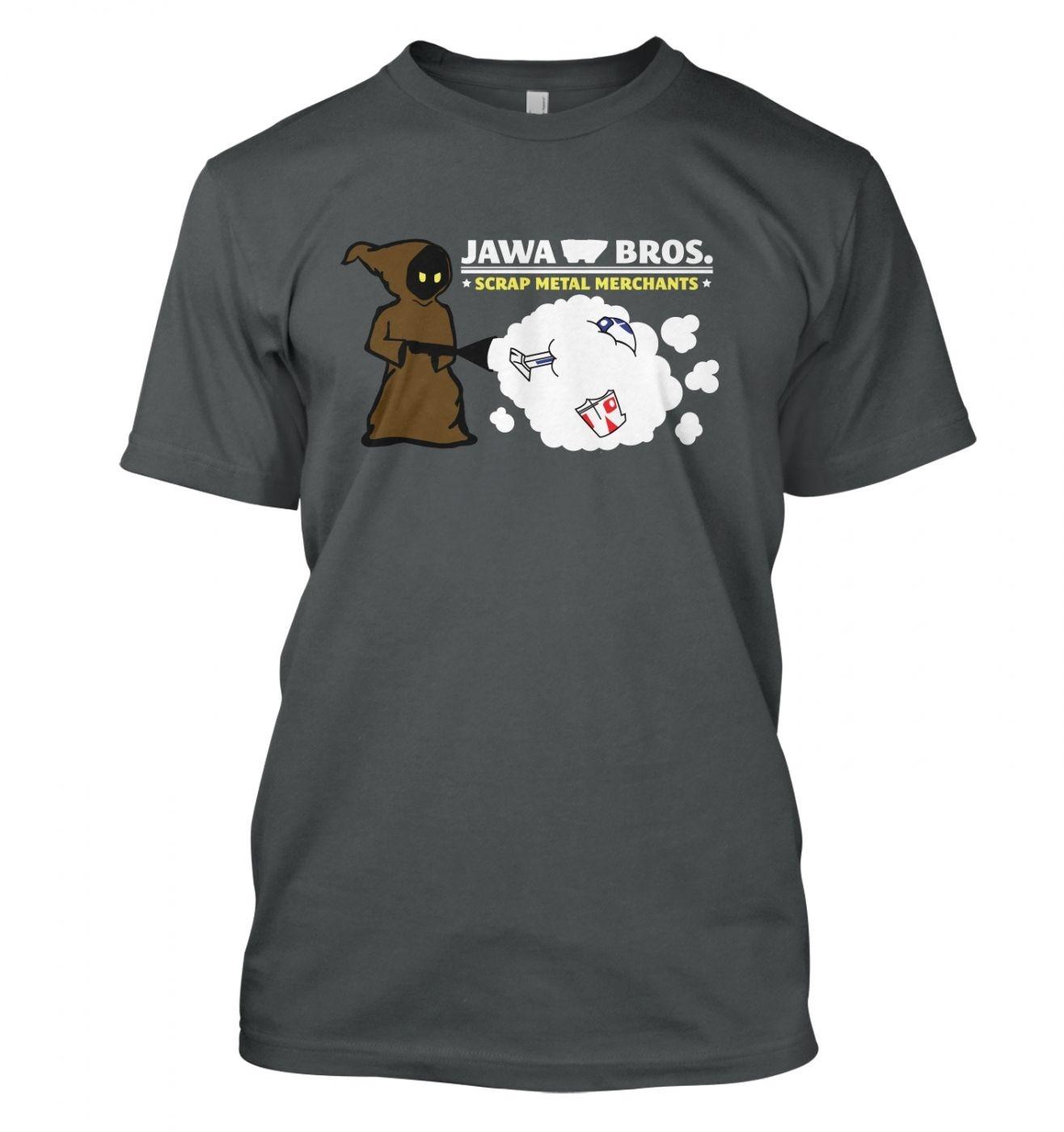 Version 1  - Jawa Bros. Scrap Metal Merchants t-shirt - Inspired by Star Wars