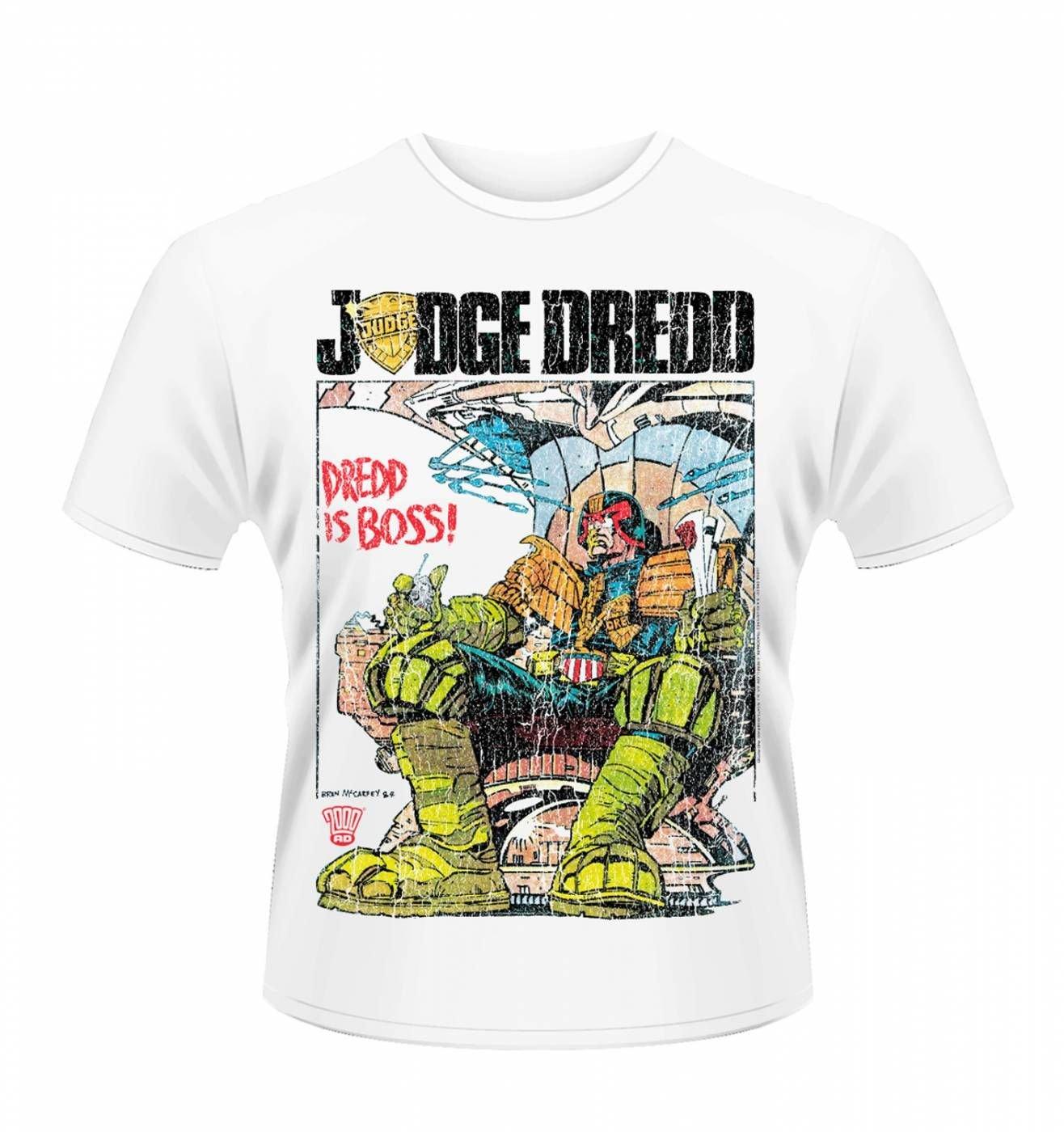 OFFICIAL Judge Dredd Is Boss men's t-shirt