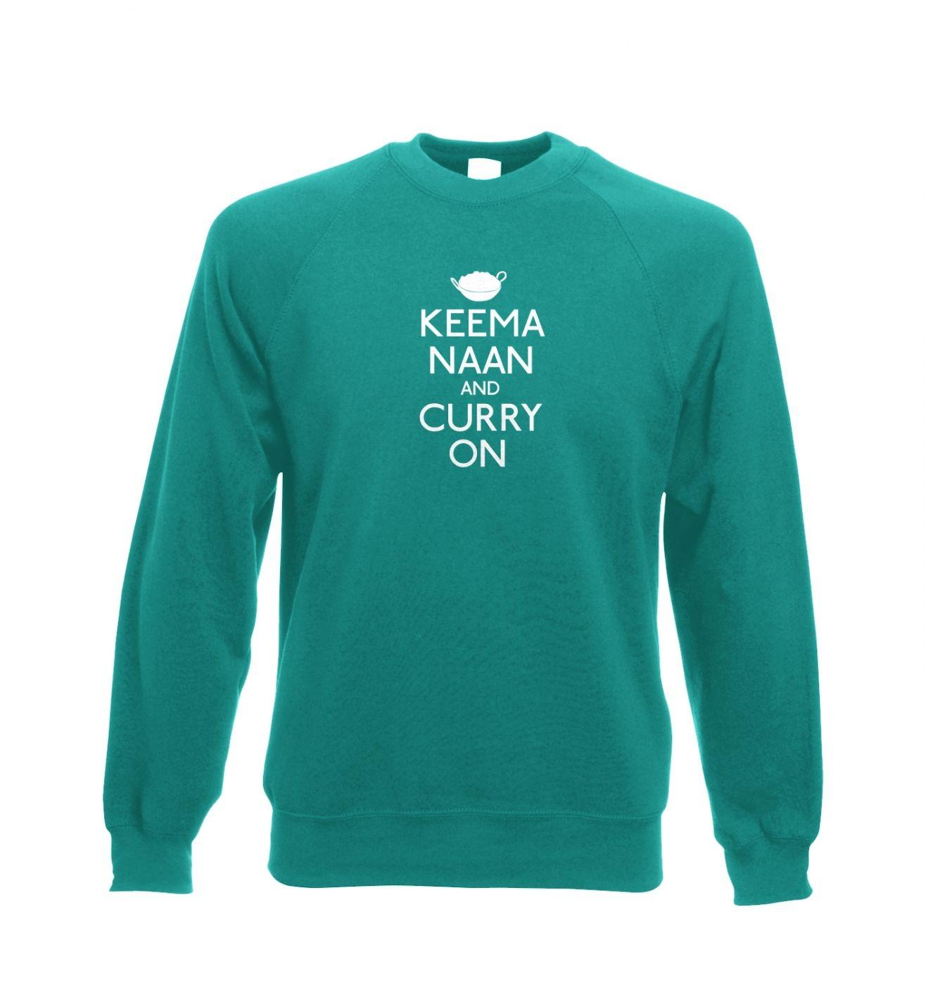 Keema Naan And Curry On Adult Crewneck Sweatshirt