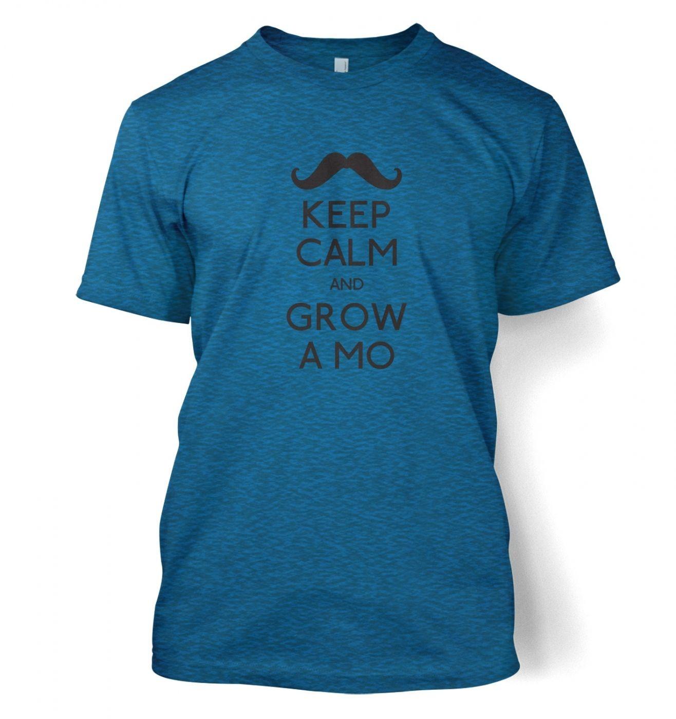 Keep Calm and Grow a Mo Men's t-shirt