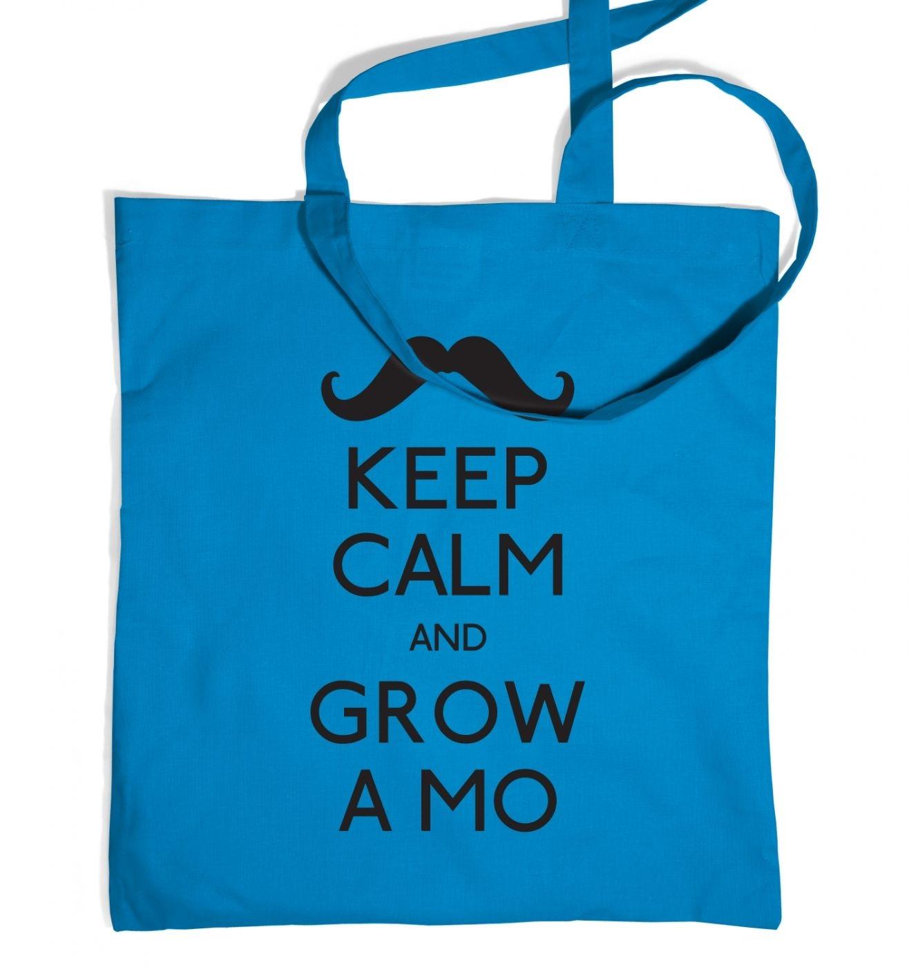 Keep Calm and Grow a Mo Tote Bag