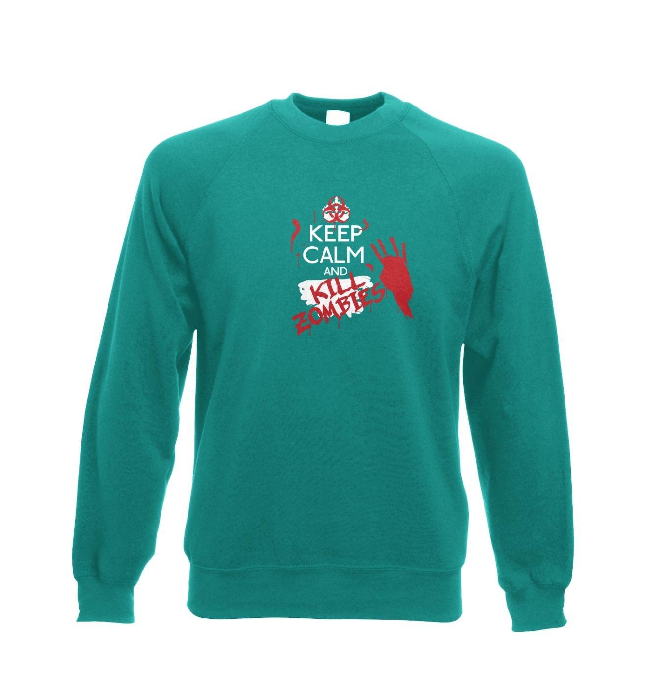 Keep Calm And Kill Zombies adult's crewneck sweatshirt