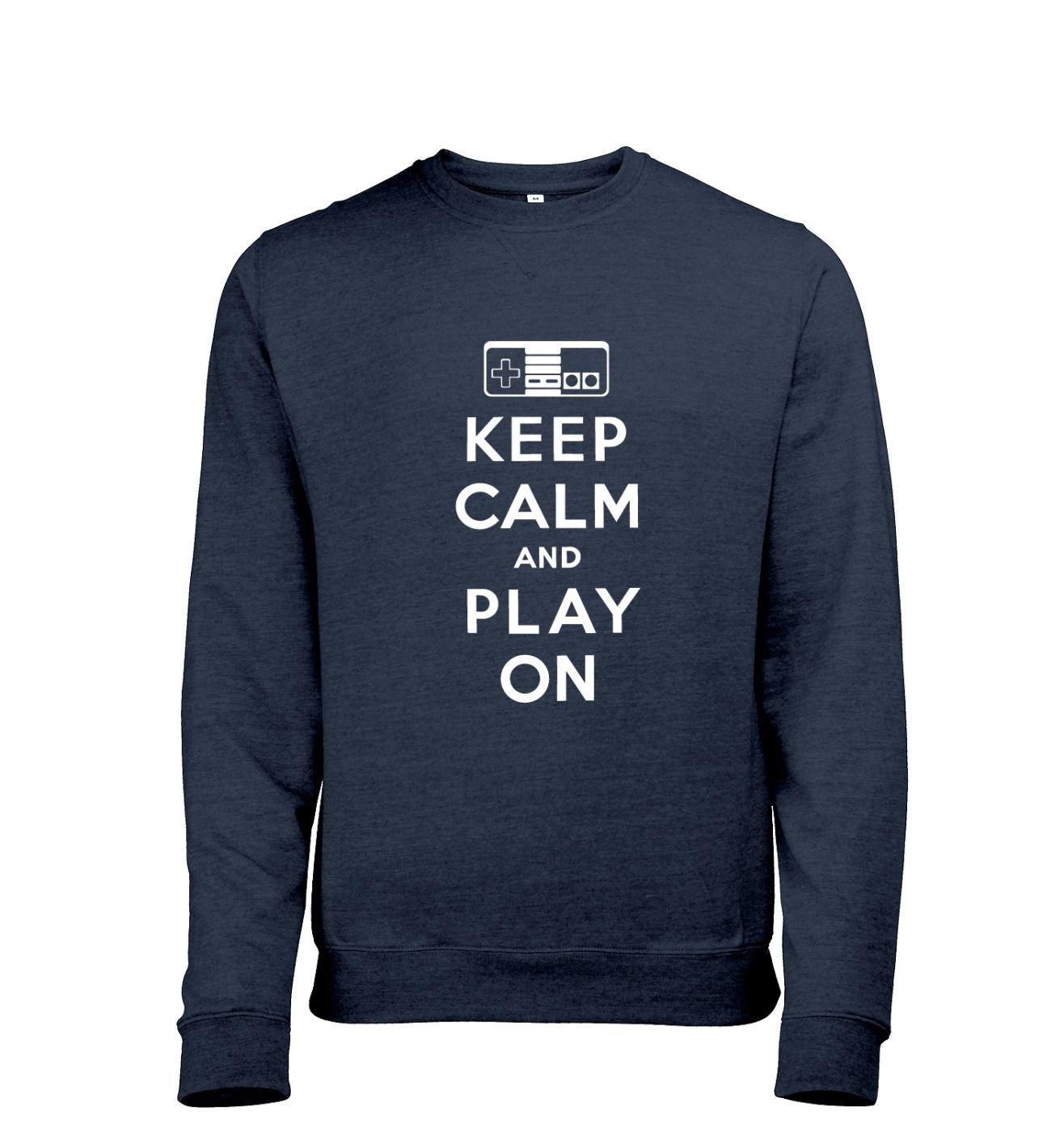 Keep Calm And Play On men's heather sweatshirt