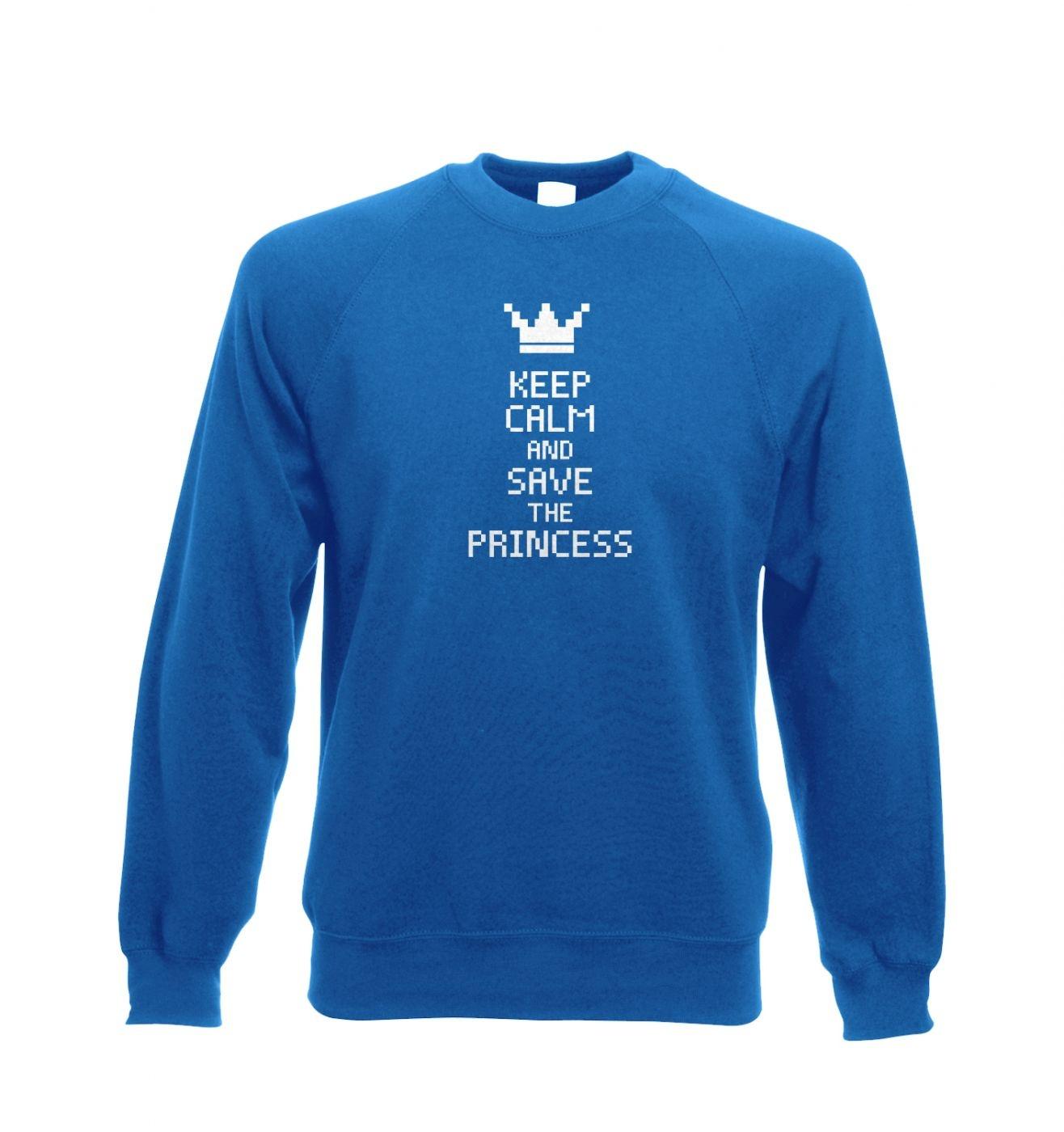Keep Calm and Save The Princess crewneck sweatshirt