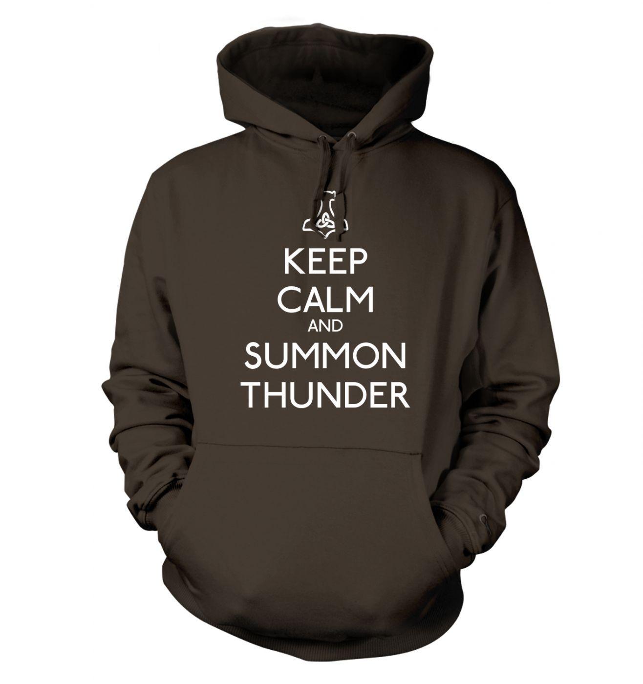 Keep Calm and Summon Thunder  hoodie