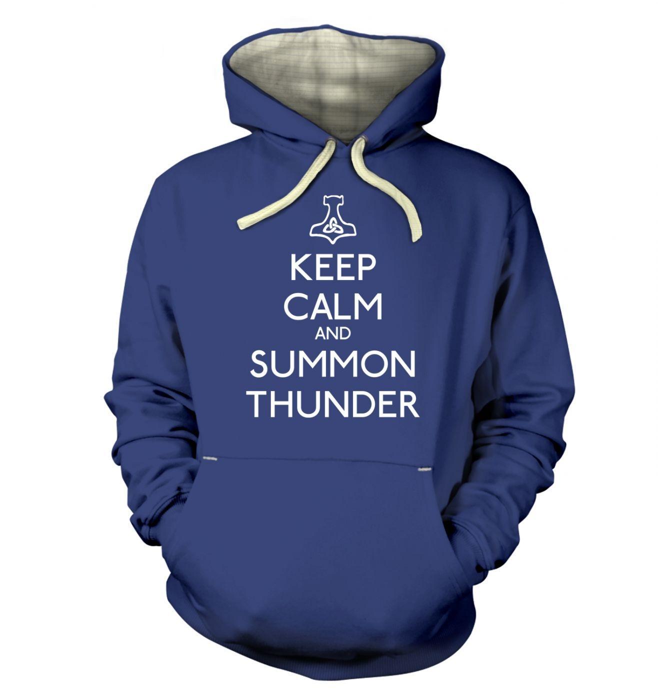 Keep Calm and Summon Thunder premium hoodie