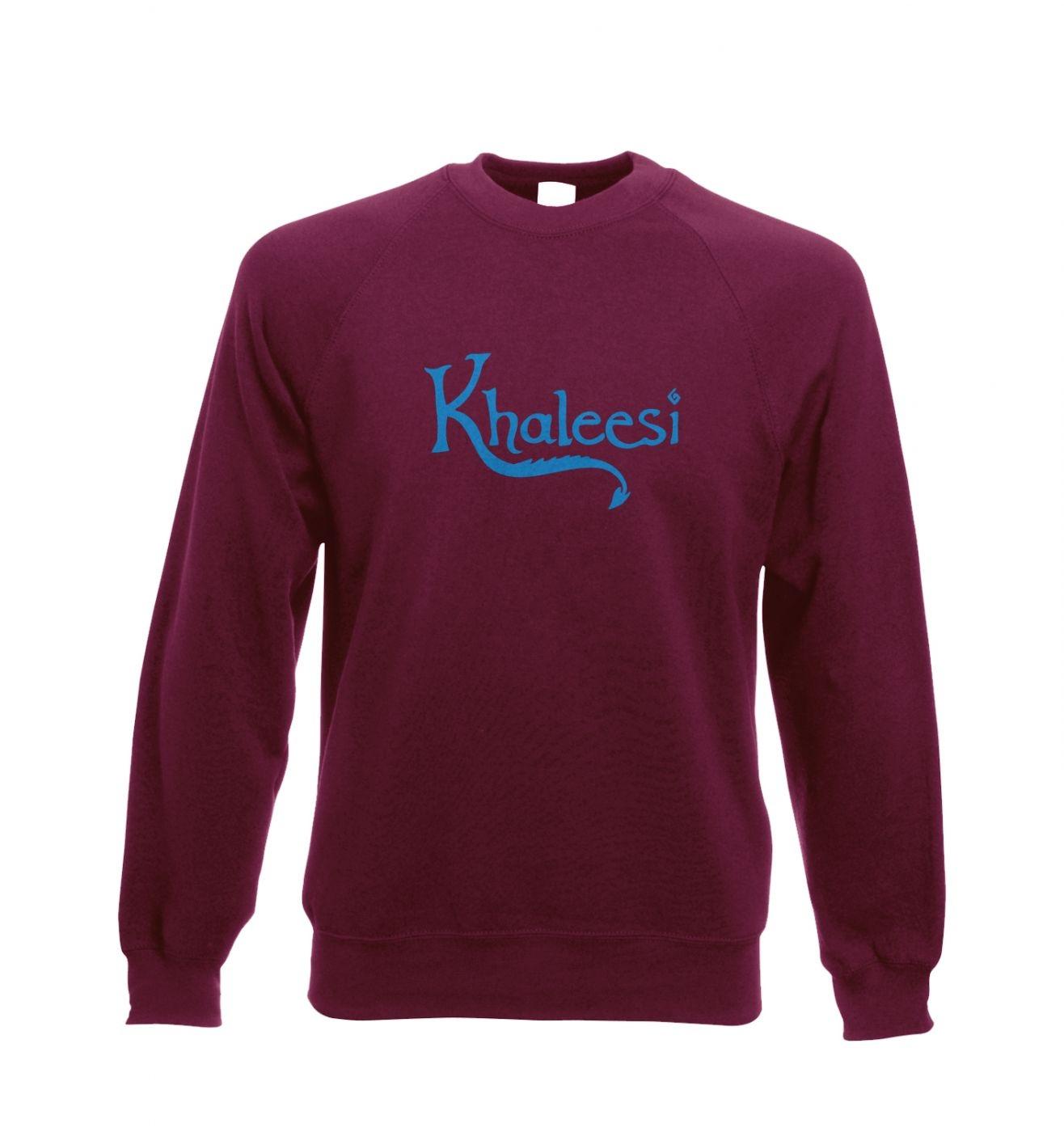 Khaleesi Adult Crewneck Sweatshirt  (blue) - inspired by Game of Thrones