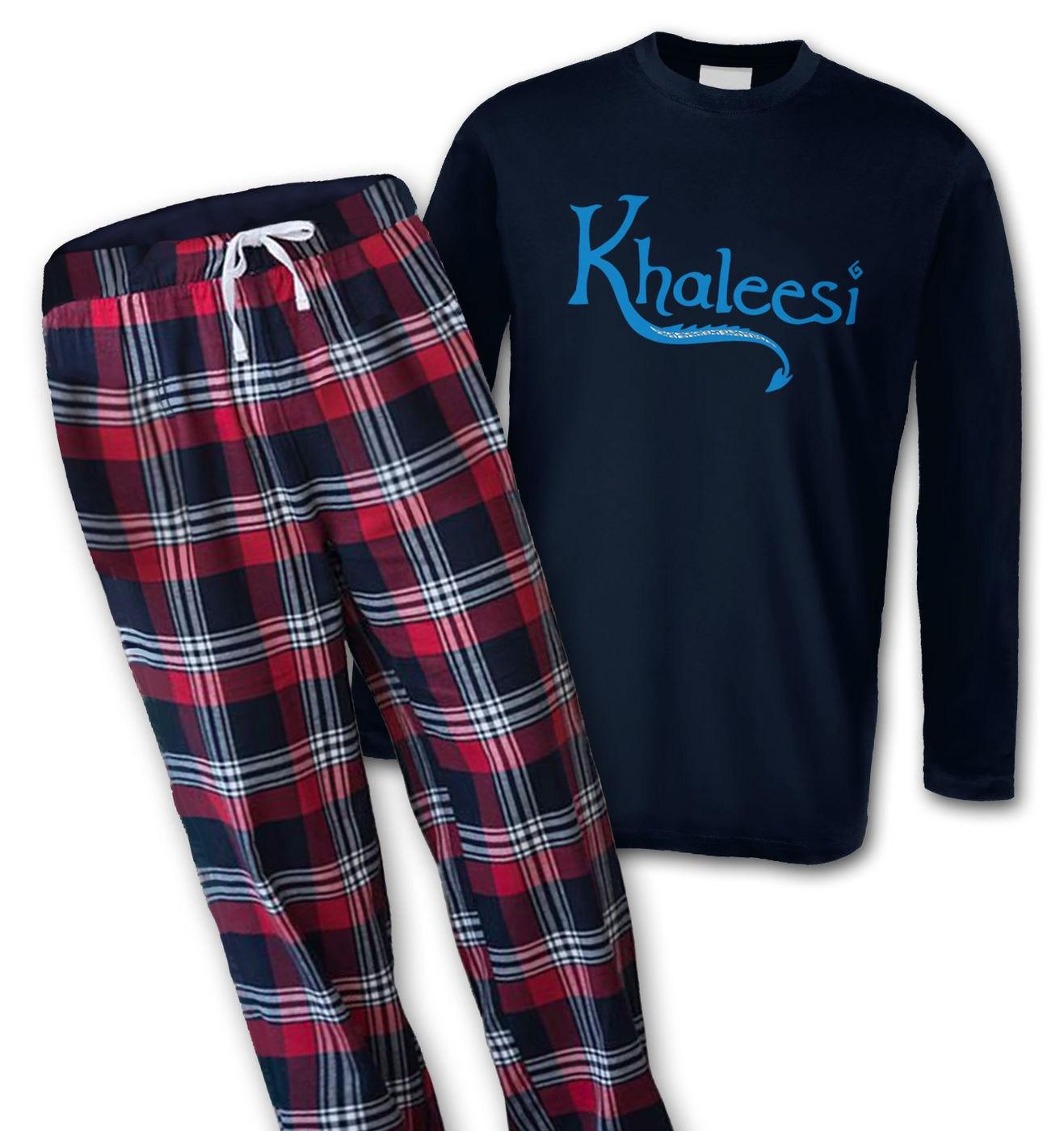 Khaleesi (blue) mens long sleeve pyjamas by Something Geeky