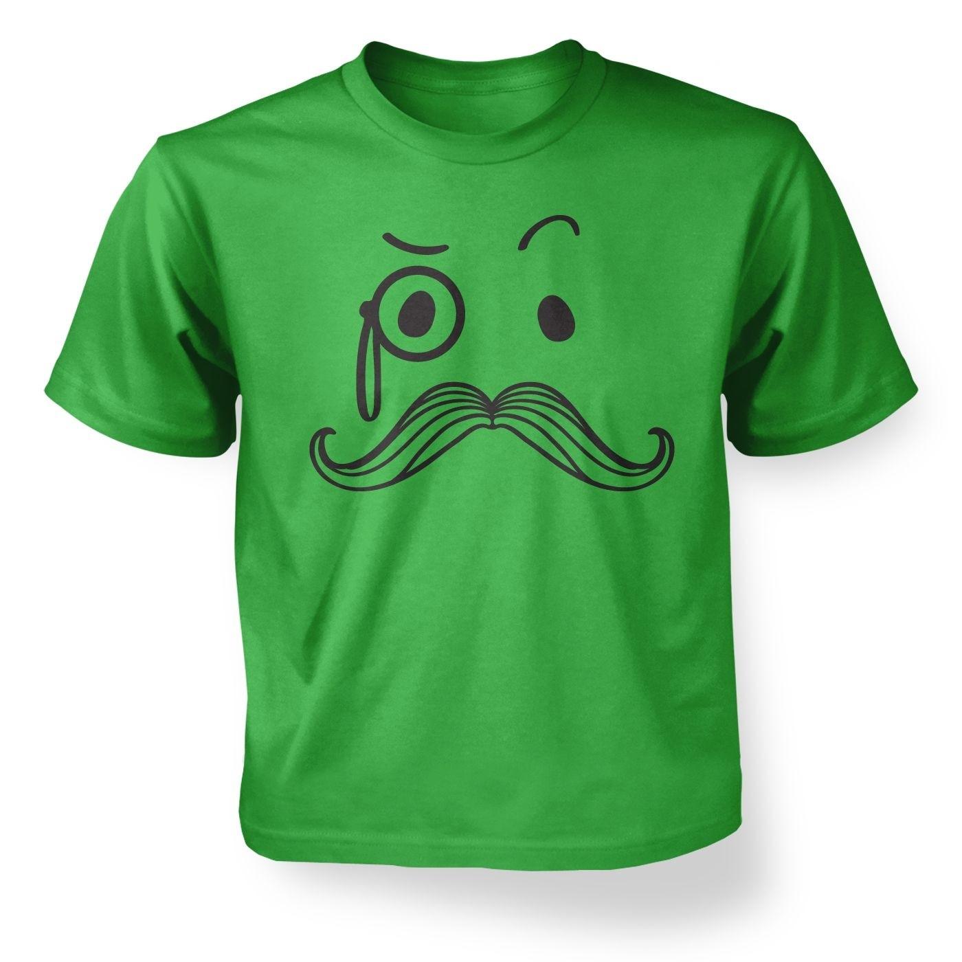 Kid's Monocle and Moustache t-shirt