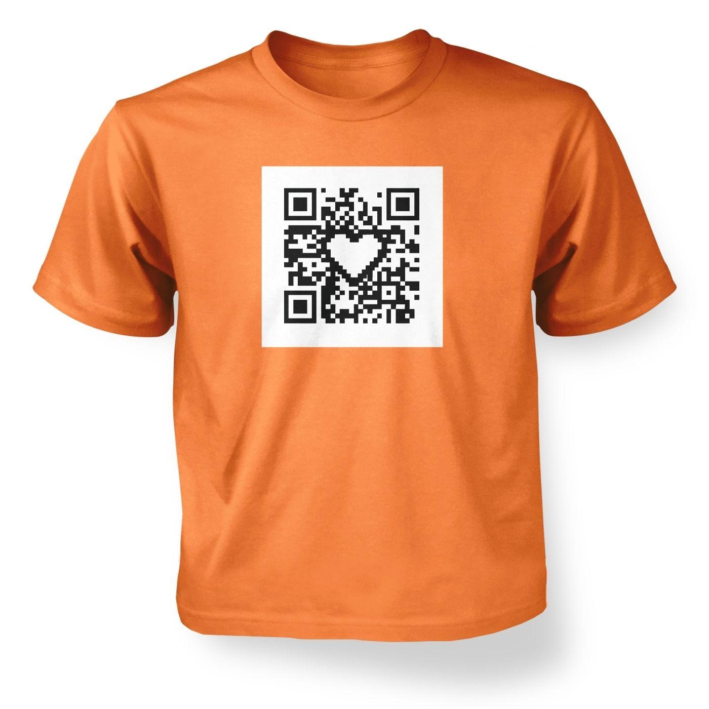 Kids' QR code heart t-shirt