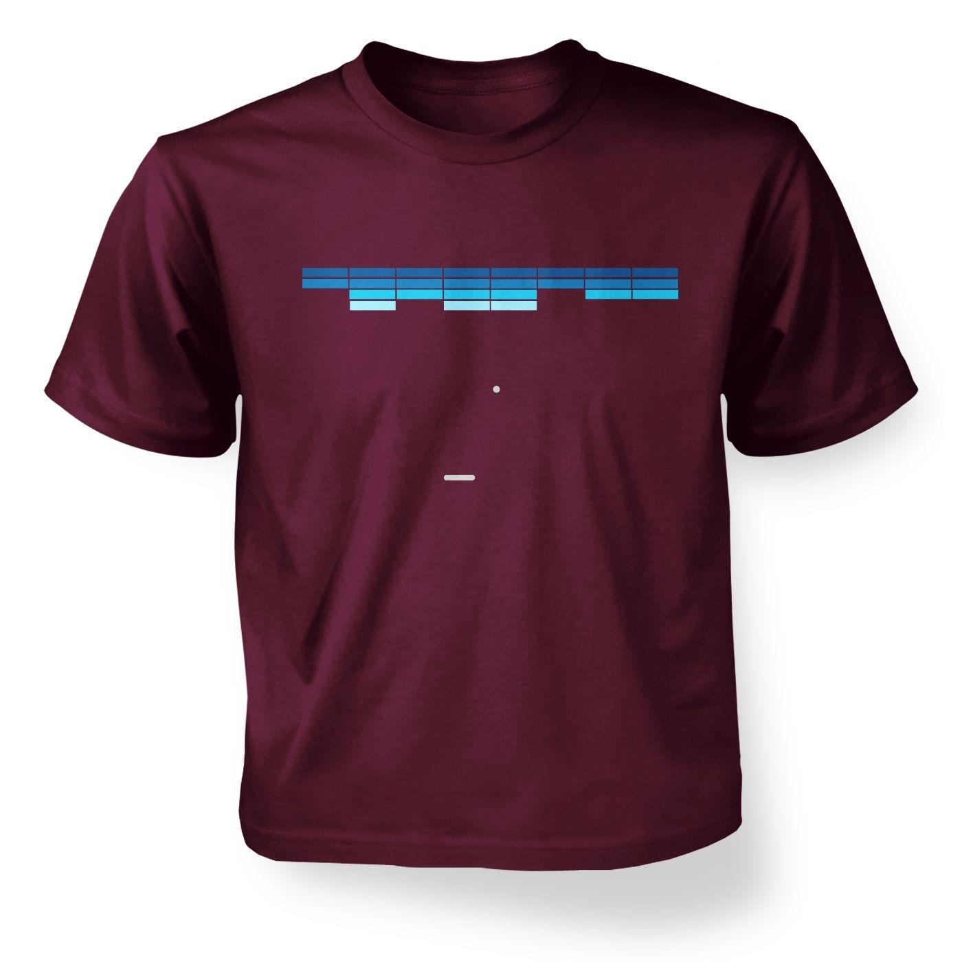Retro Arcade Style (purple/blue) kids' t-shirt