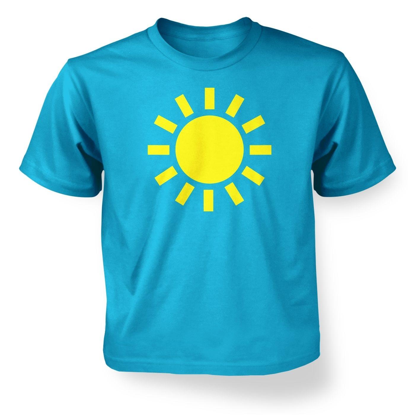 Weather symbol sunny kids t shirt somethinggeeky kids weather symbol sunny t shirt buycottarizona