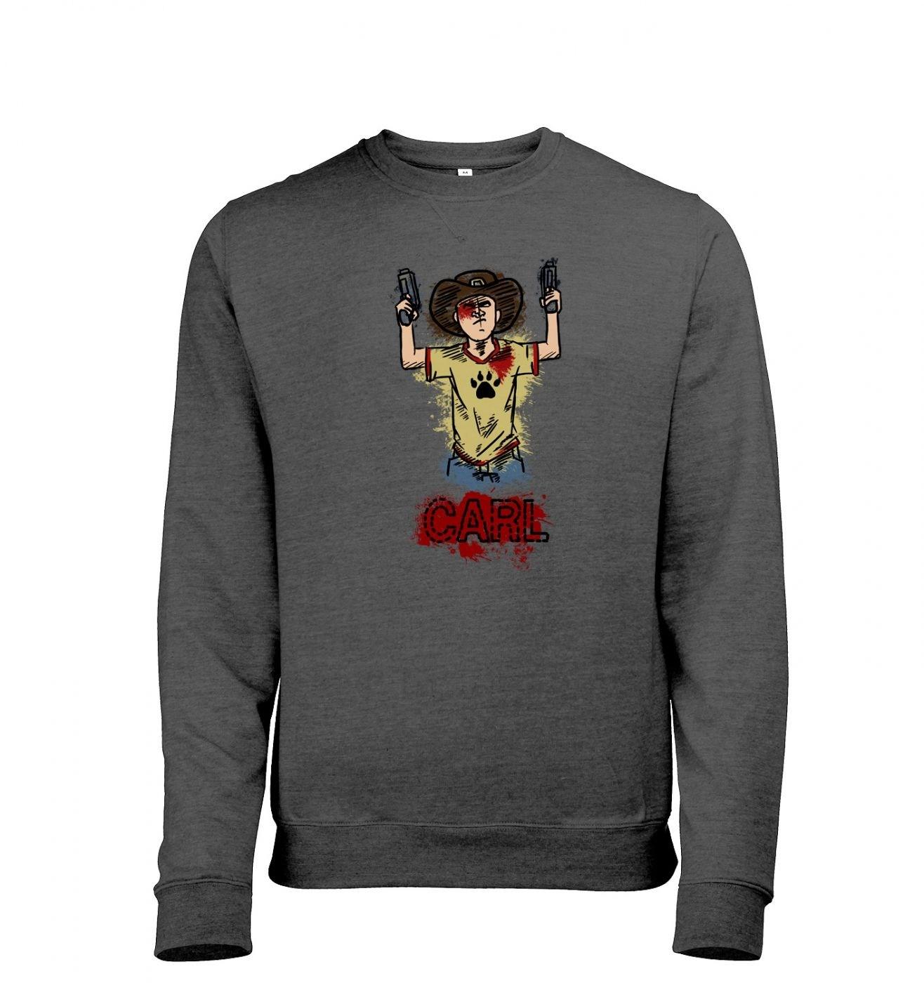 Kid with guns men's heather sweatshirt