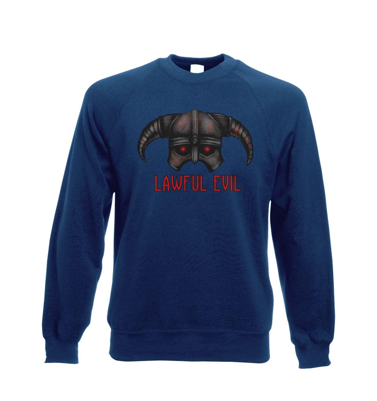 Lawful Evil Adult Crewneck Sweatshirt