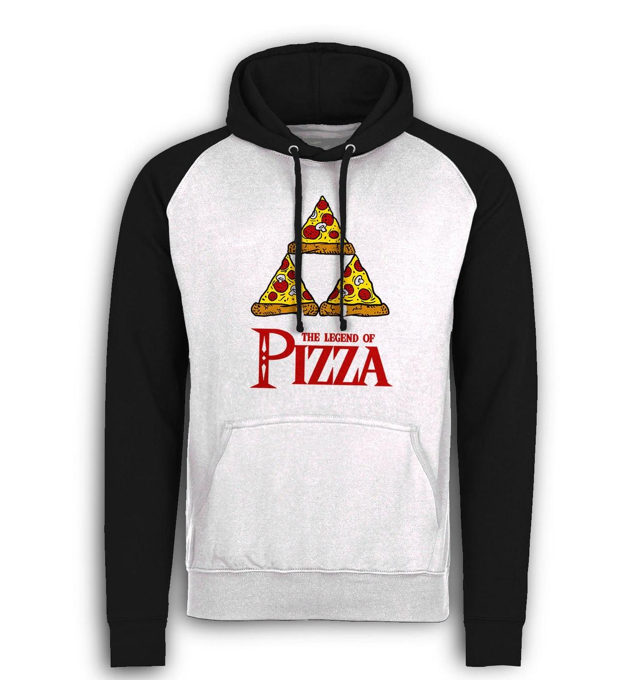 Legend Of Pizza baseball hoodie by Something Geeky