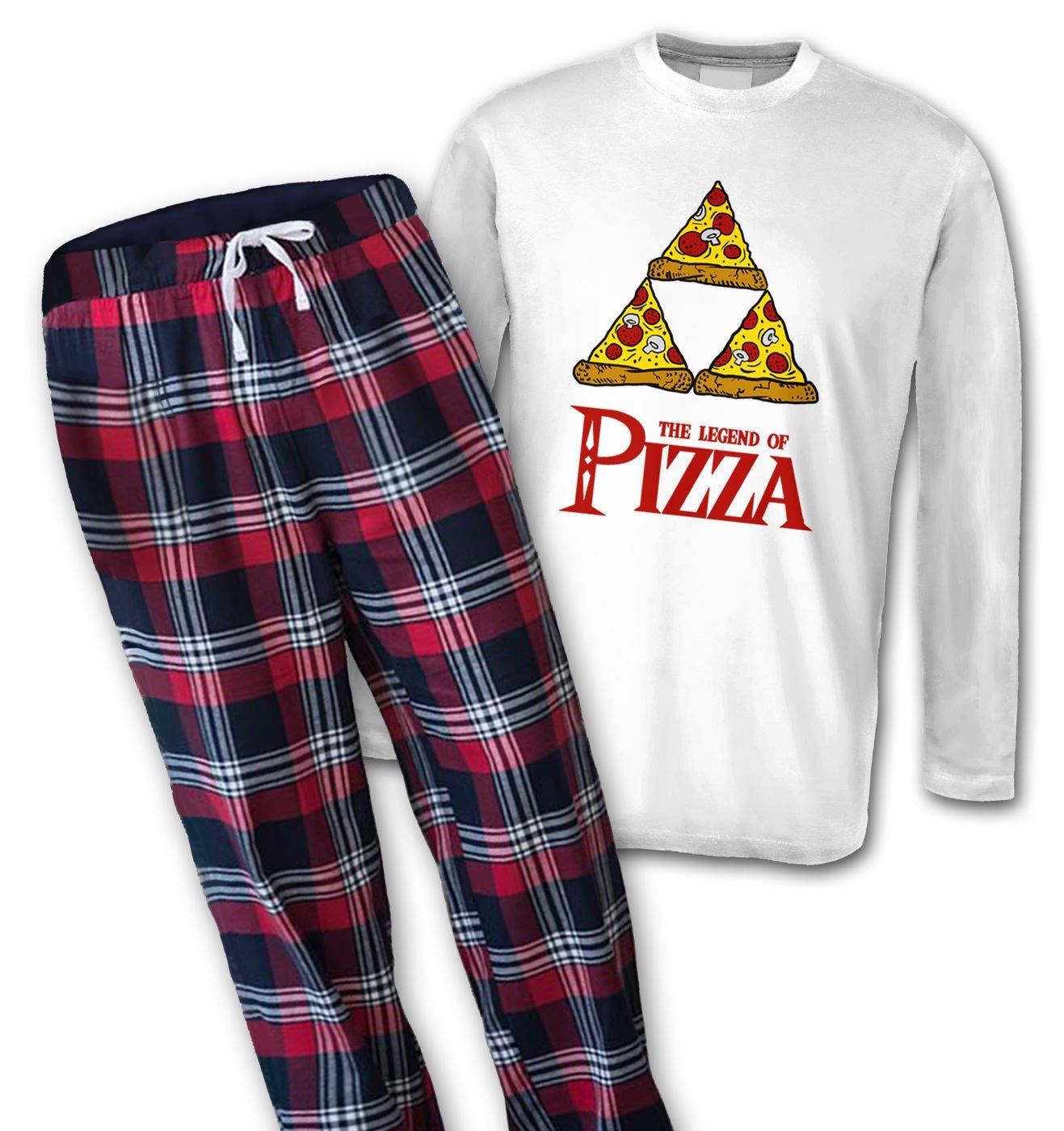 Legend Of Pizza mens long sleeve pyjamas by Something Geeky