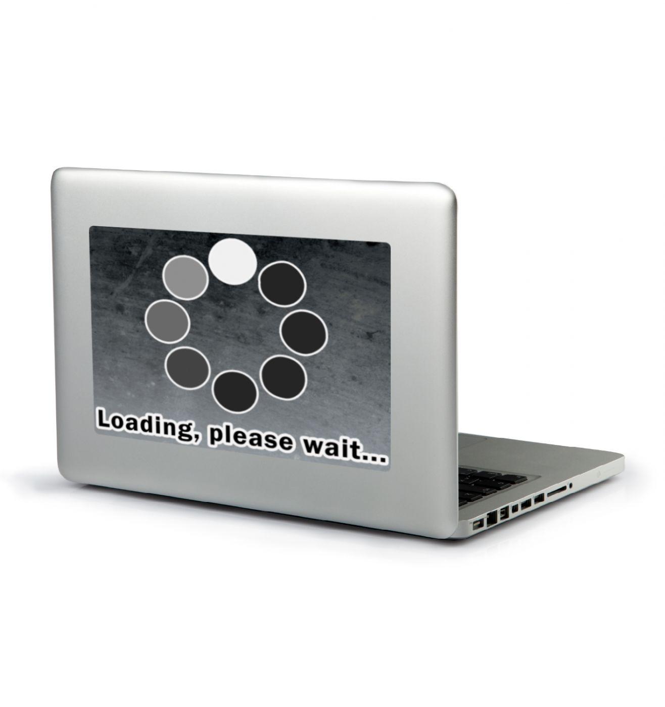 Loading Please Wait laptop sticker