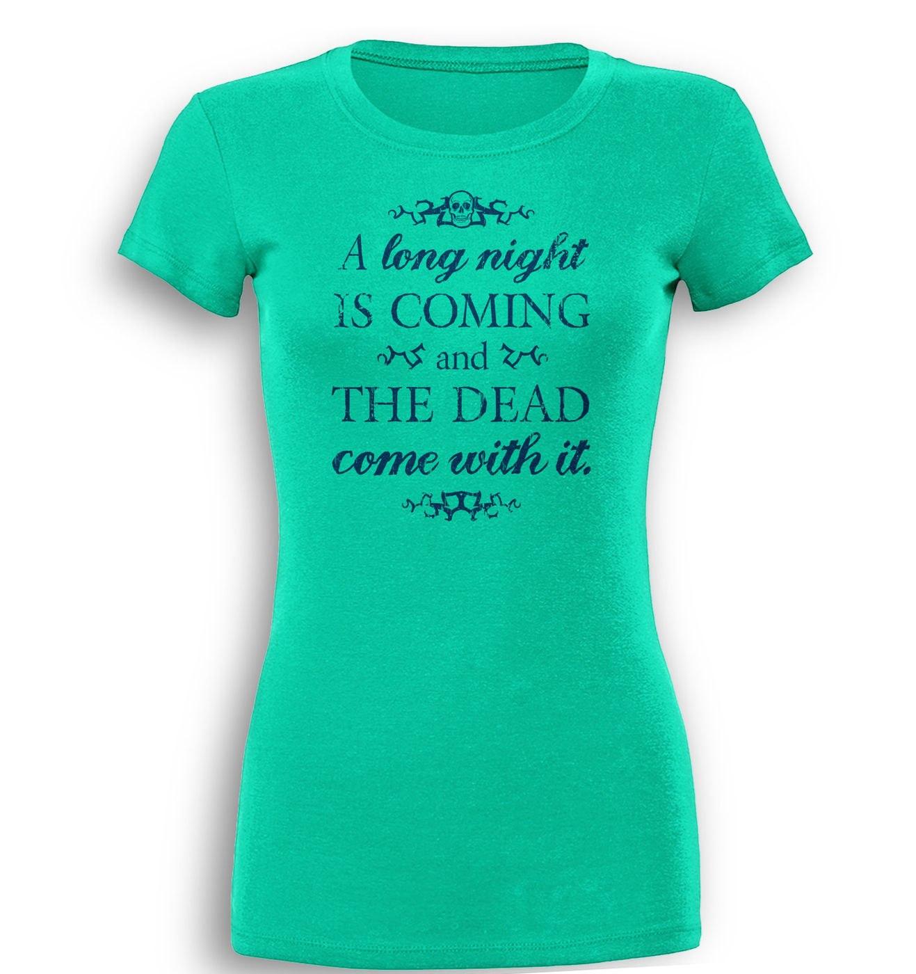 Long Night premium womens t-shirt by Something Geeky