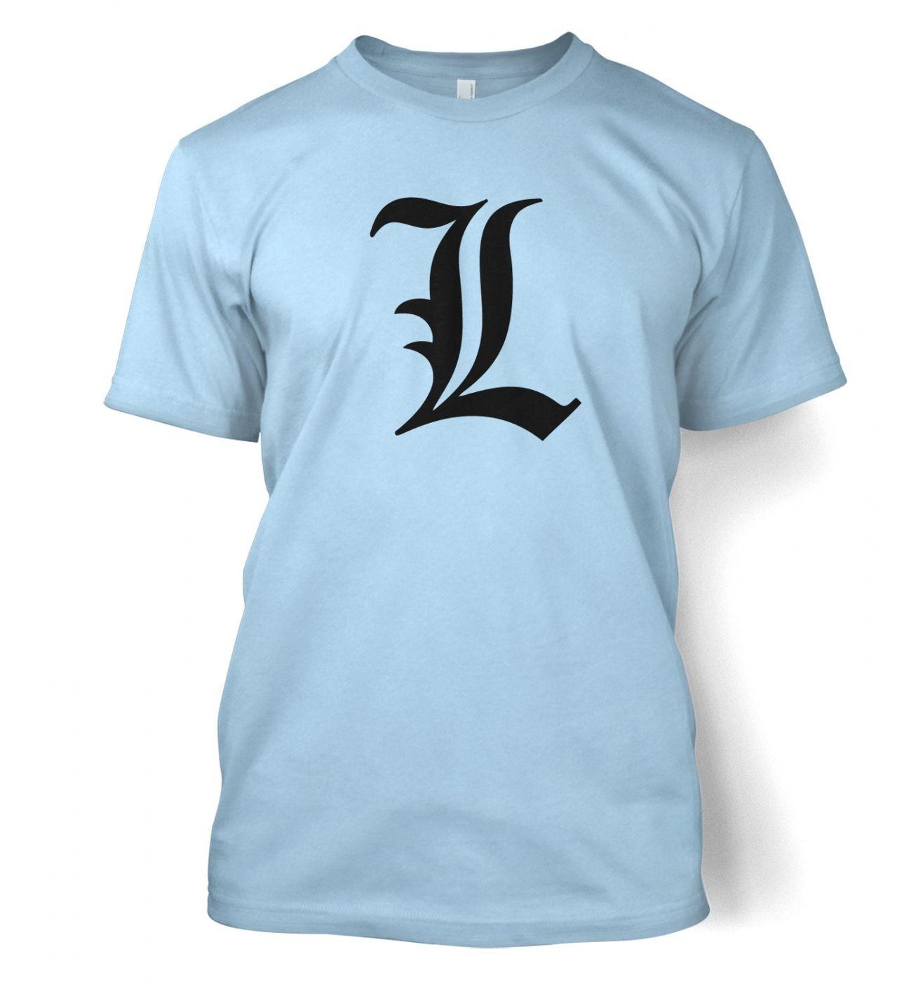'L' men's t-shirt