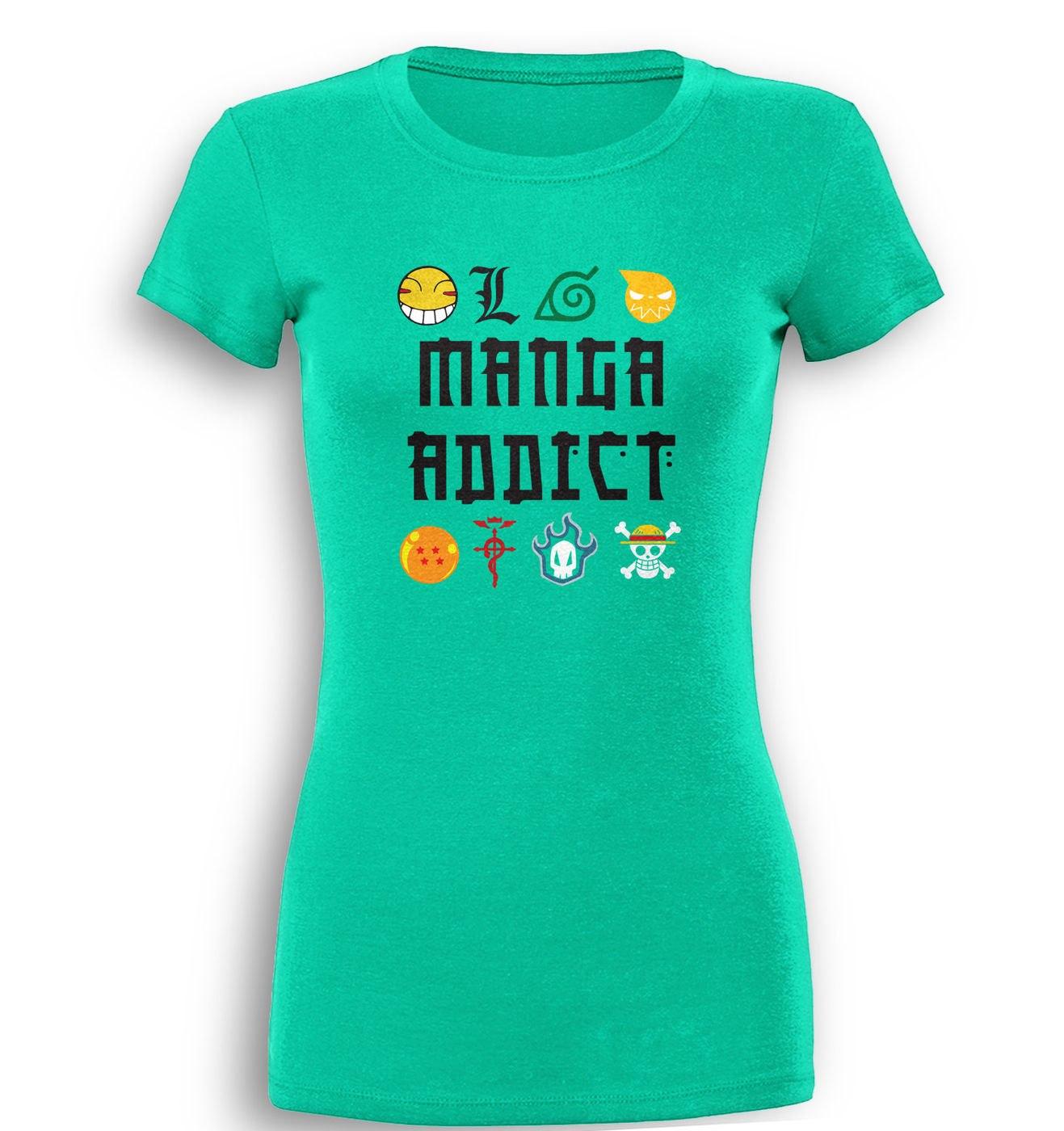 Manga Addict premium women's t-shirt by Something Geeky