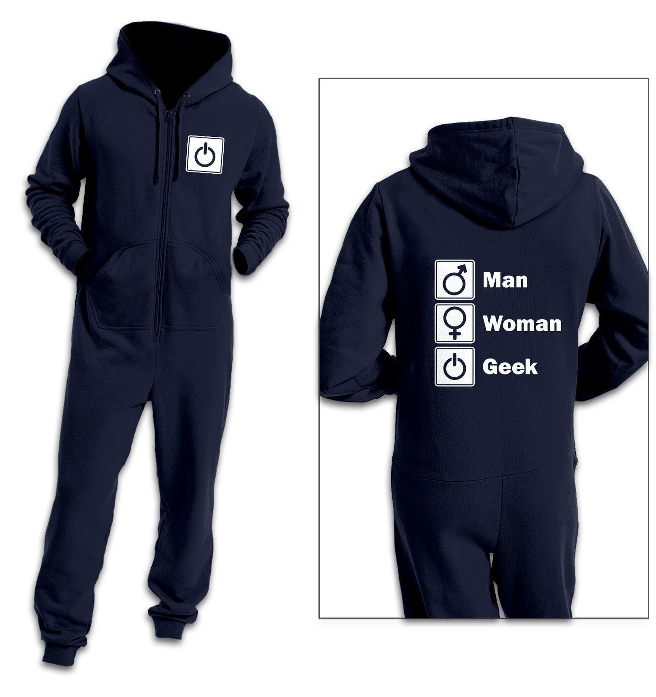 Man Woman Geek adult onesie by Something Geeky