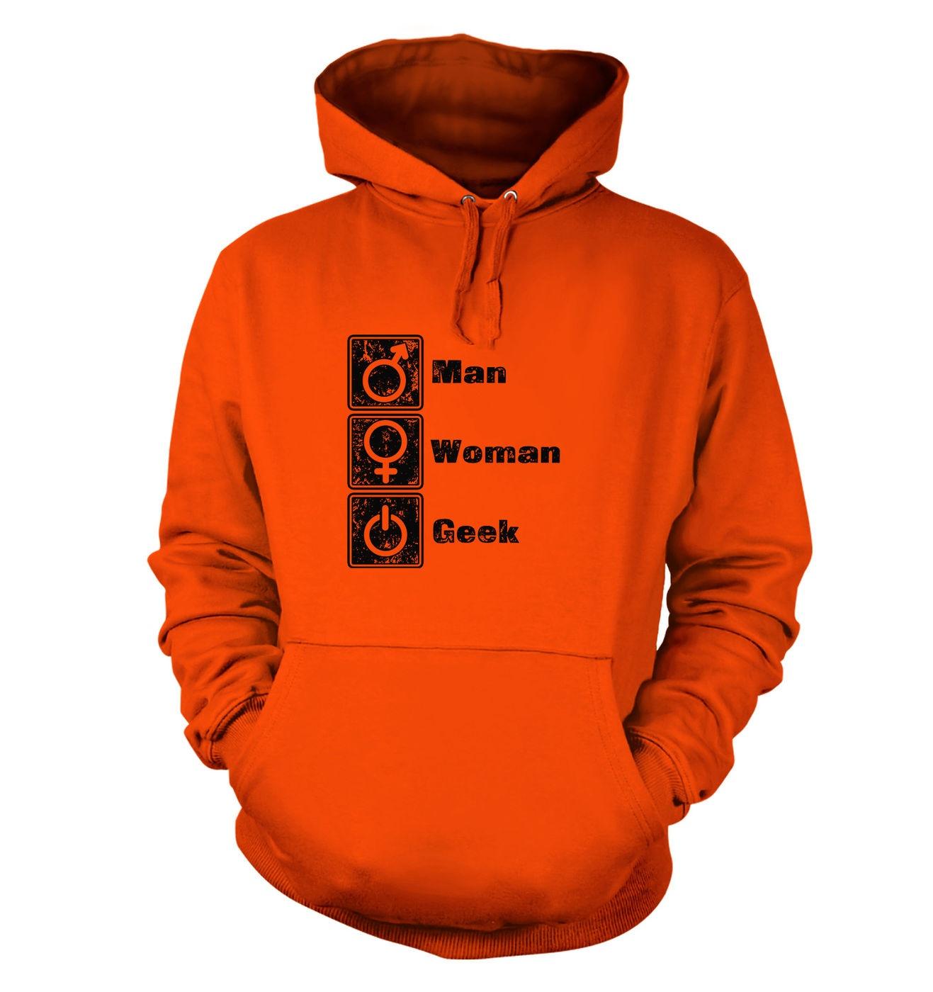 Man Woman Geek hoodie by Something Geeky