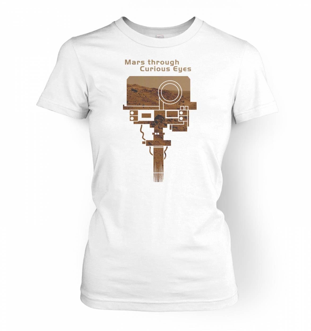 Mars Through Curious Eyes women's t-shirt
