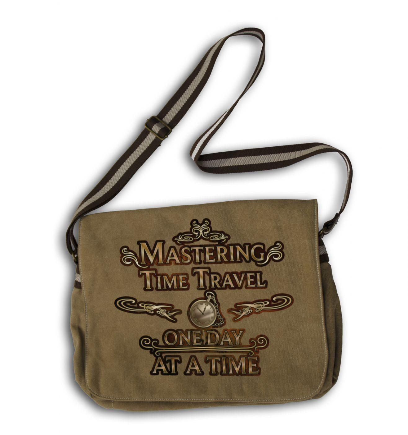Mastering Time Travel messenger bag