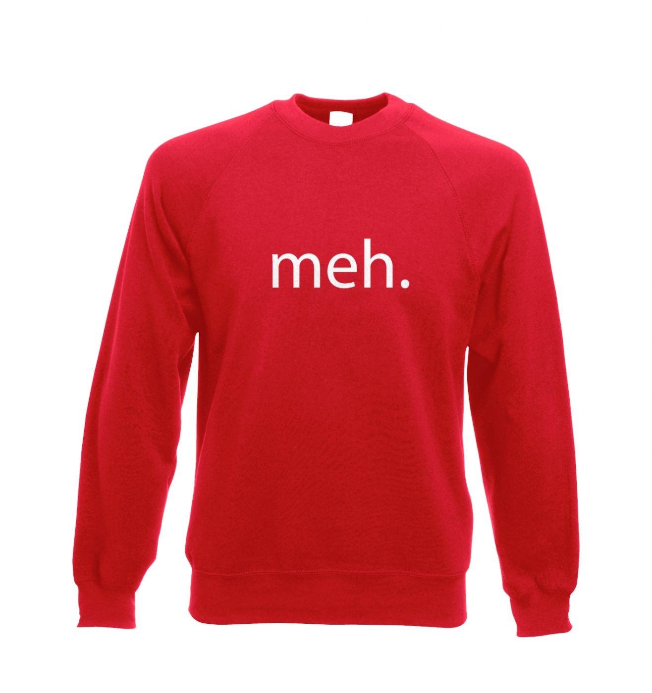 Meh adult's crewneck sweatshirt