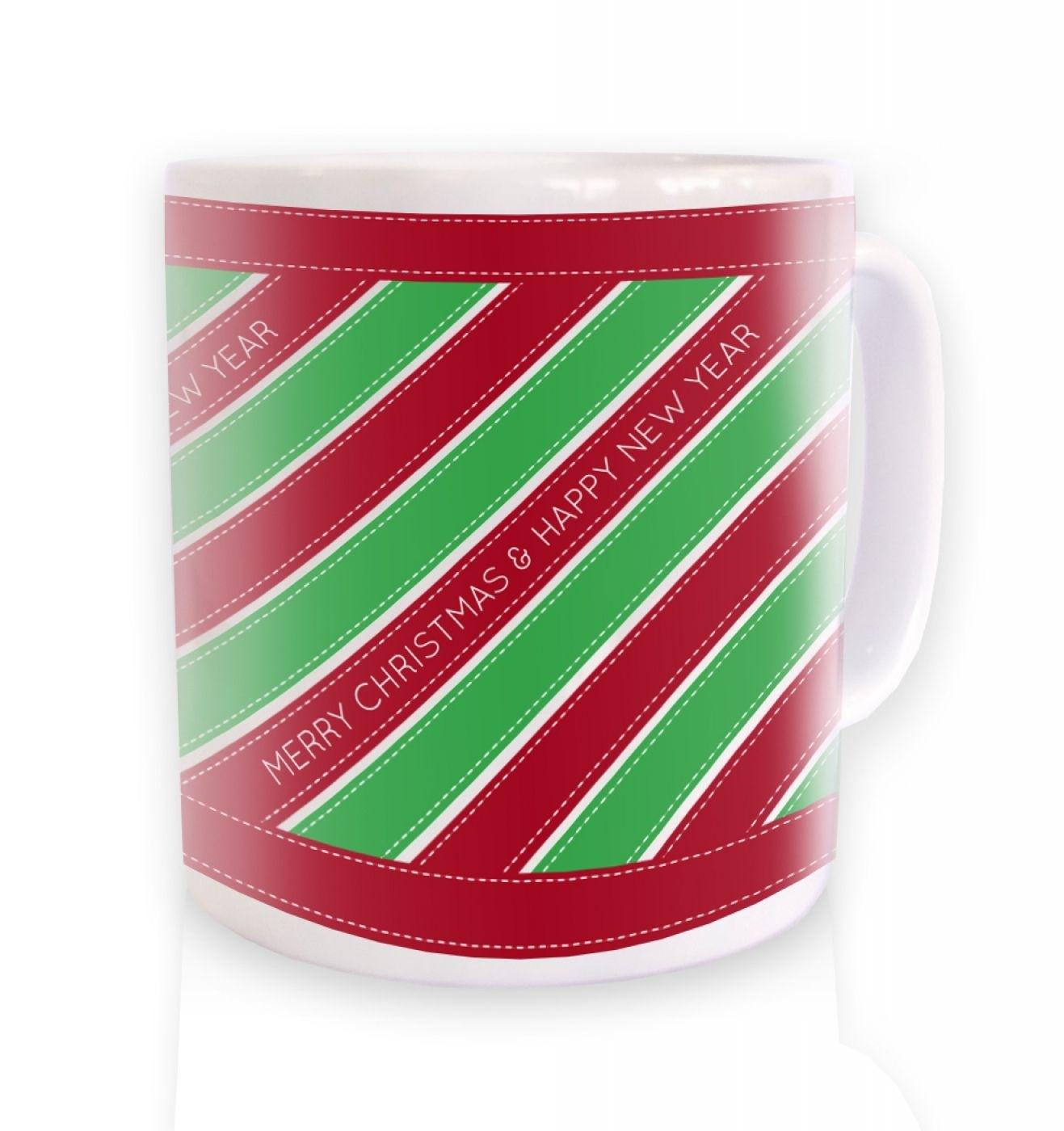 Merry Christmas Ribbon Mug