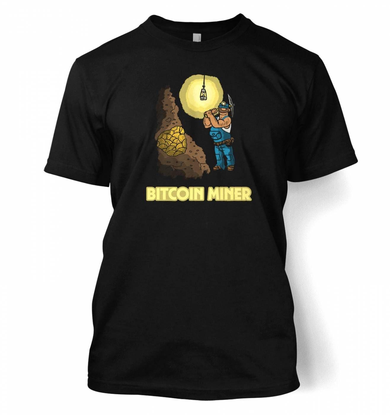 Mining In The Bitcoin Mine t-shirt