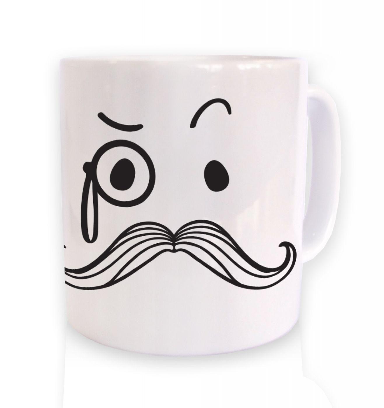 Monocle and moustache mug