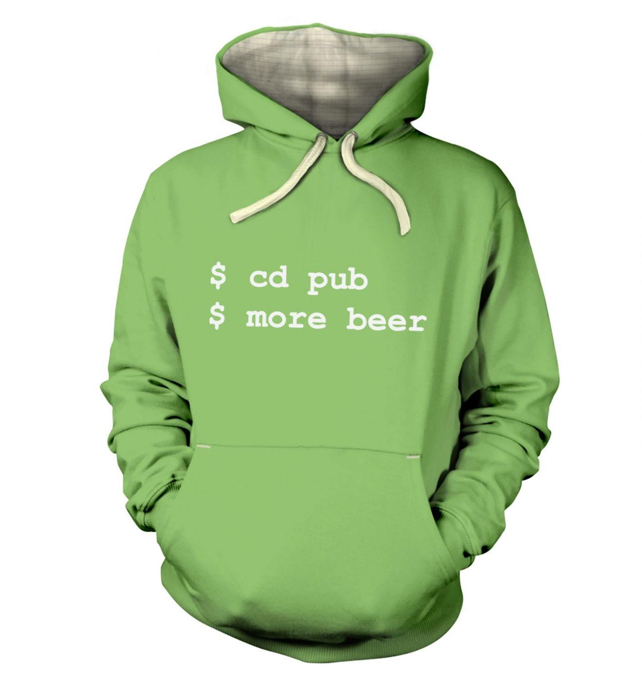 More Beer Linux hoodie (premium)