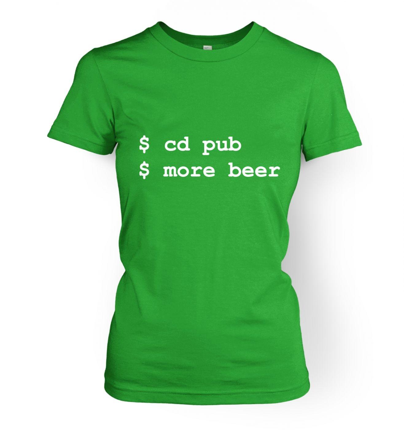 More Beer Linux women's t-shirt