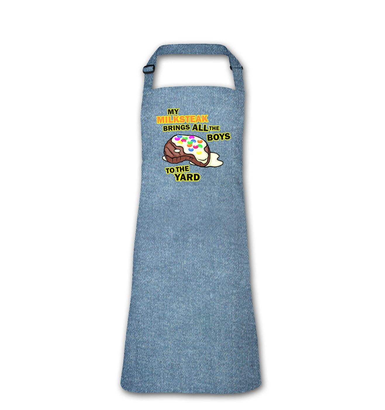 My Milksteak (Boys) adult apron by Something Geeky