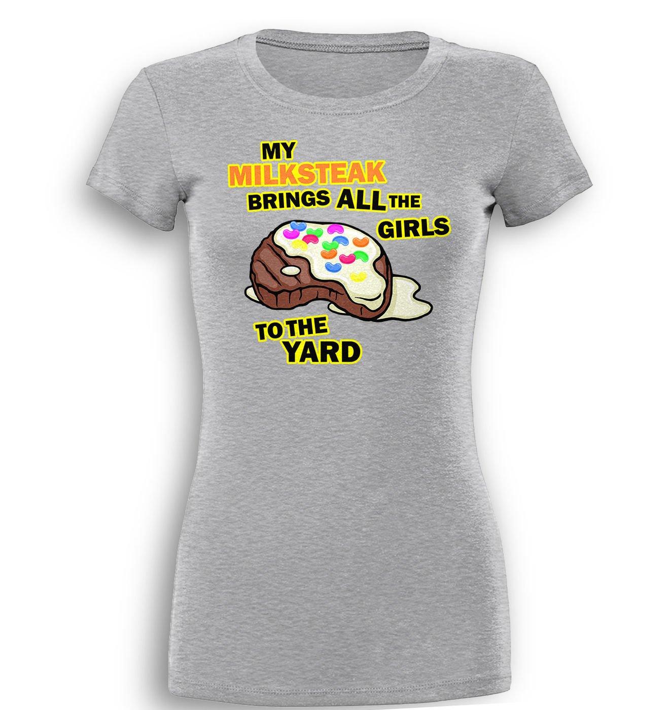 My Milksteak (Girls) premium women's t-shirt by Something Geeky
