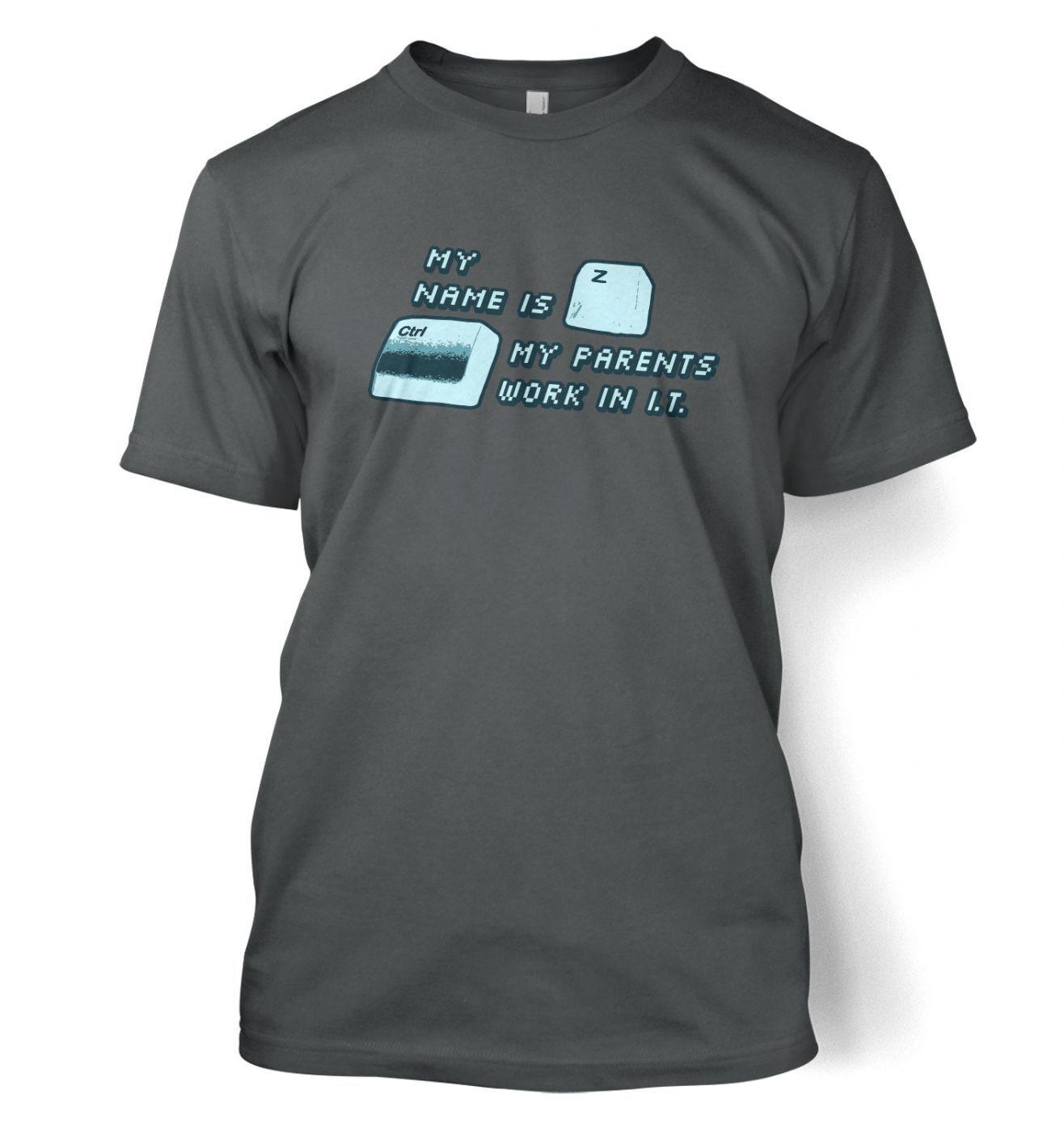 My Name Is Ctrl-Z men's t-shirt