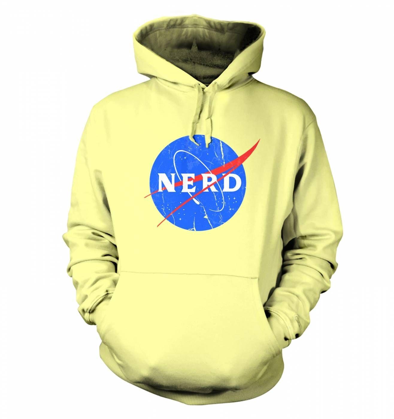 Nerd NASA logo hoodie