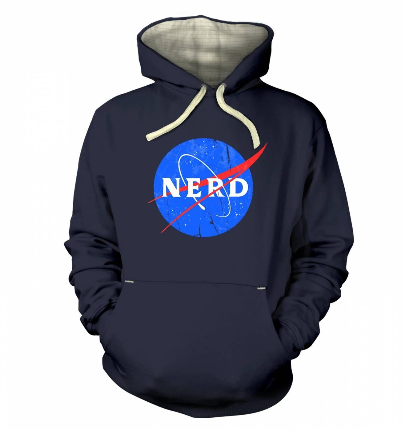 Nerd NASA logo hoodie (premium)