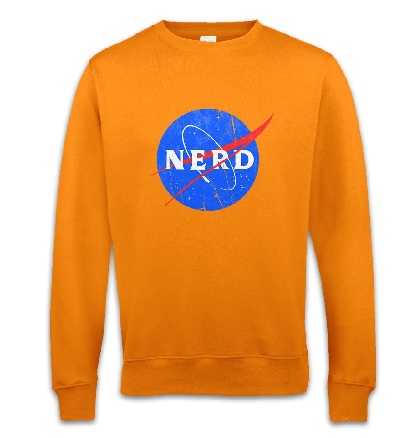 Nerd NASA logo sweatshirt