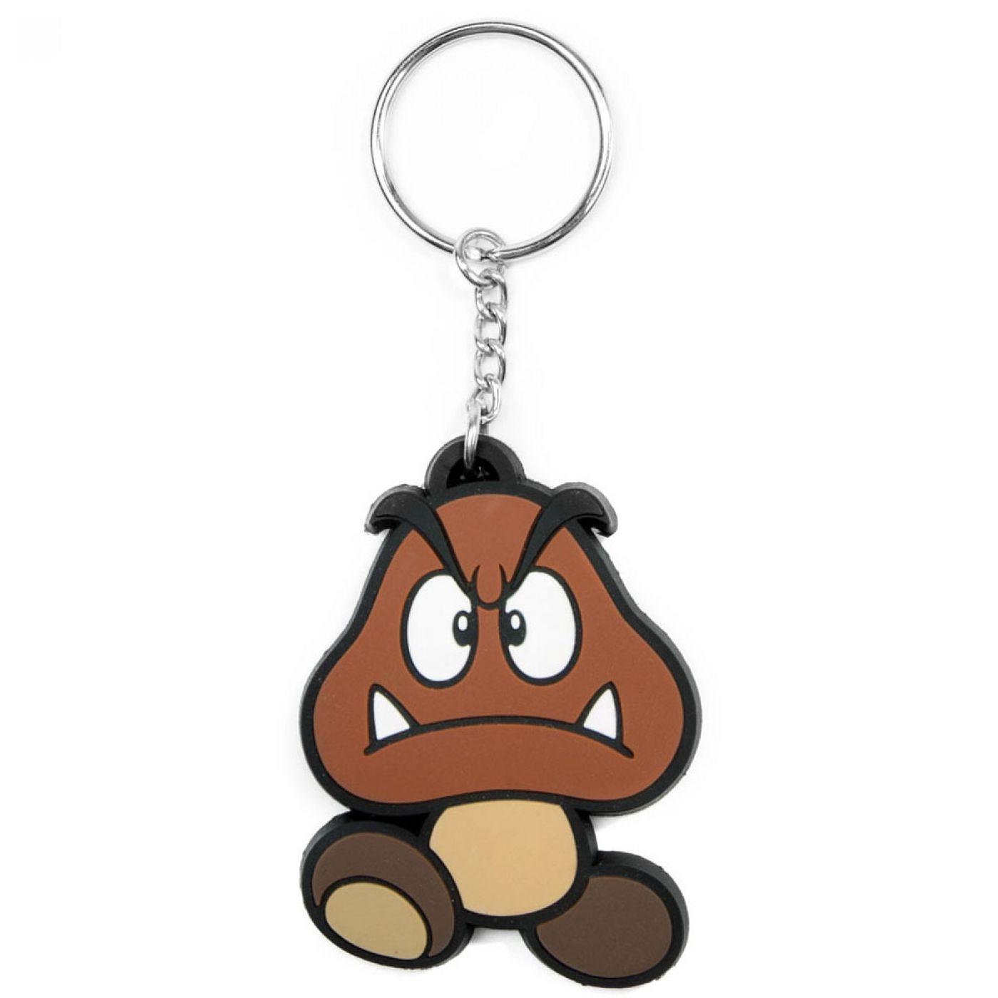 Nintendo Super Mario Bros Goomba keychain