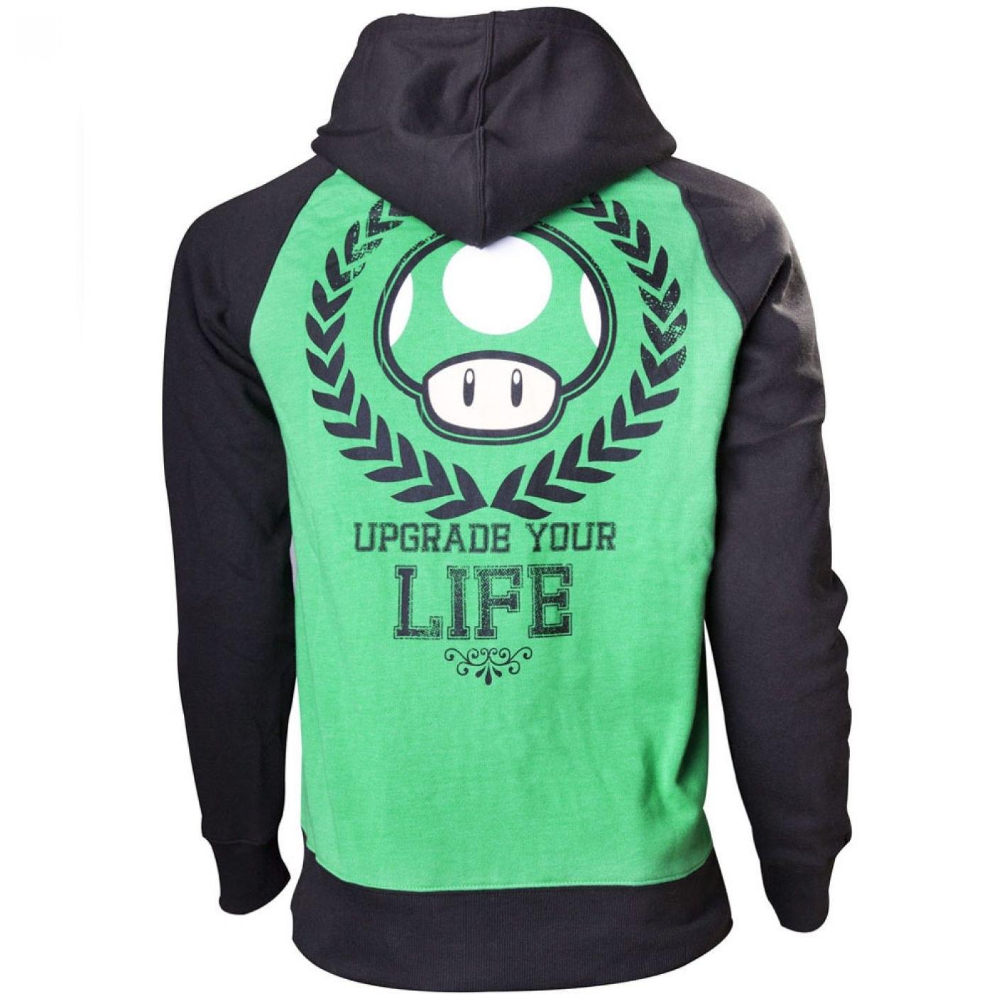 Nintendo Super Mario Bros hoodie - Upgrade Your Life 1UP hoody