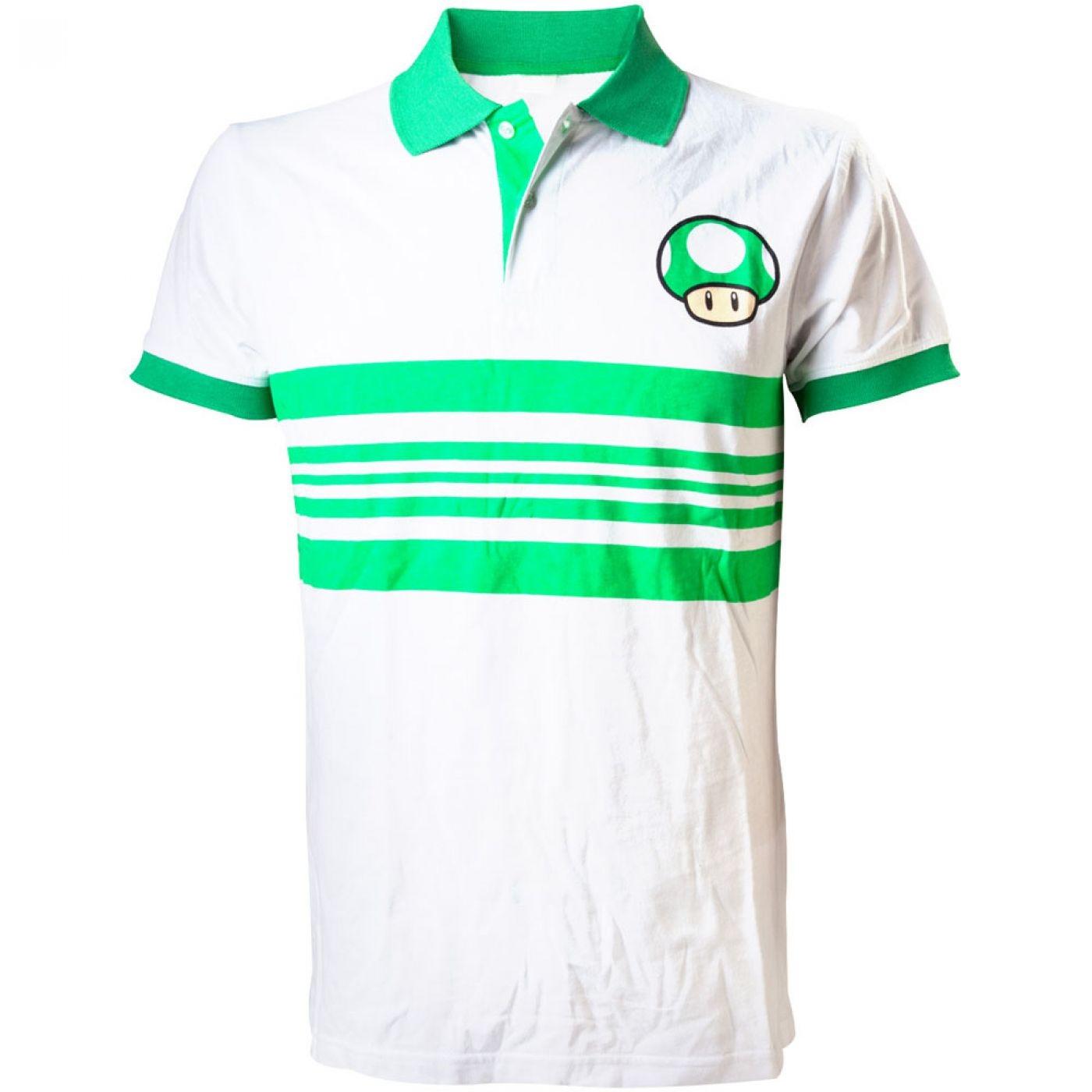 Nintendo Super Mario Bros polo shirt - Green Mushroom tshirt