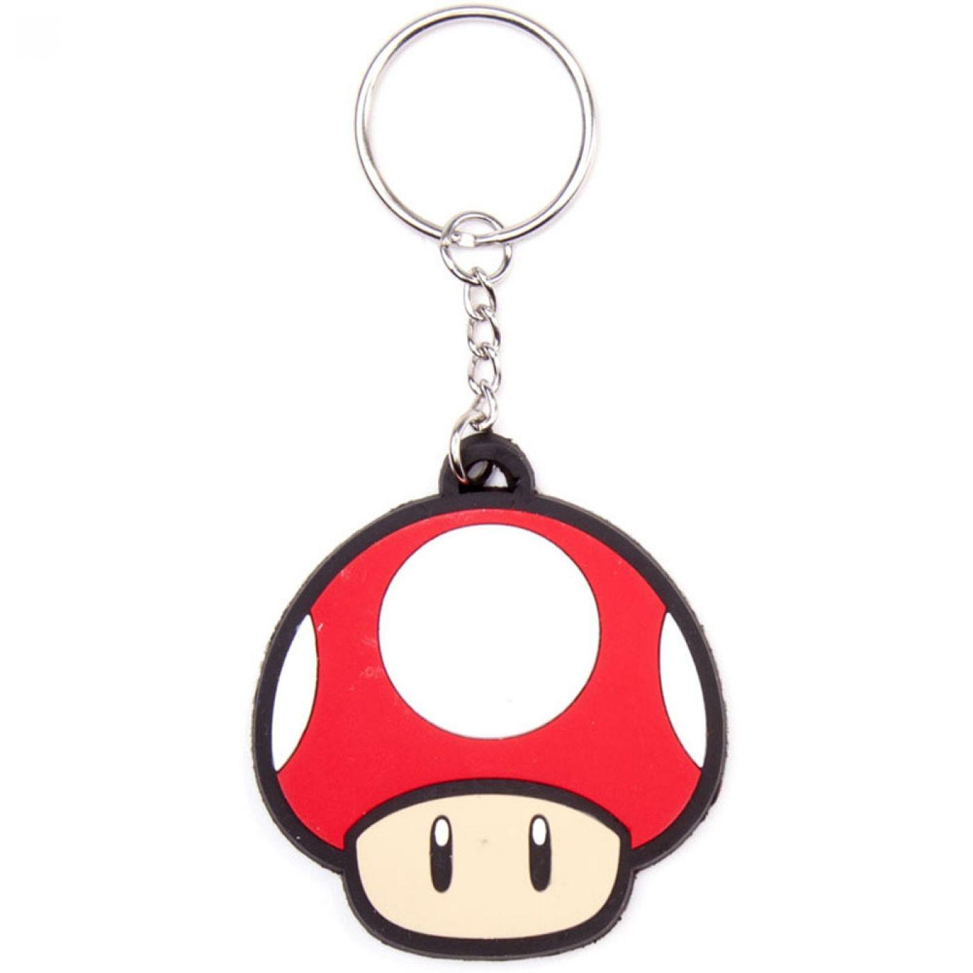 Nintendo Super Mario Bros Red Mushroom keychain