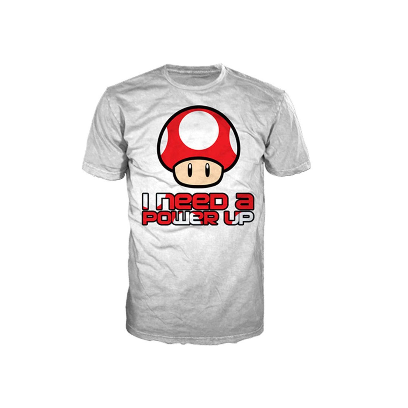 Nintendo Super Mario Bros t-shirt - Red Mushroom Power Up tshirt