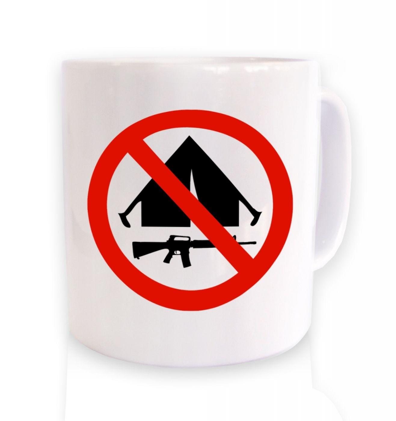 No Camping ceramic coffee mug