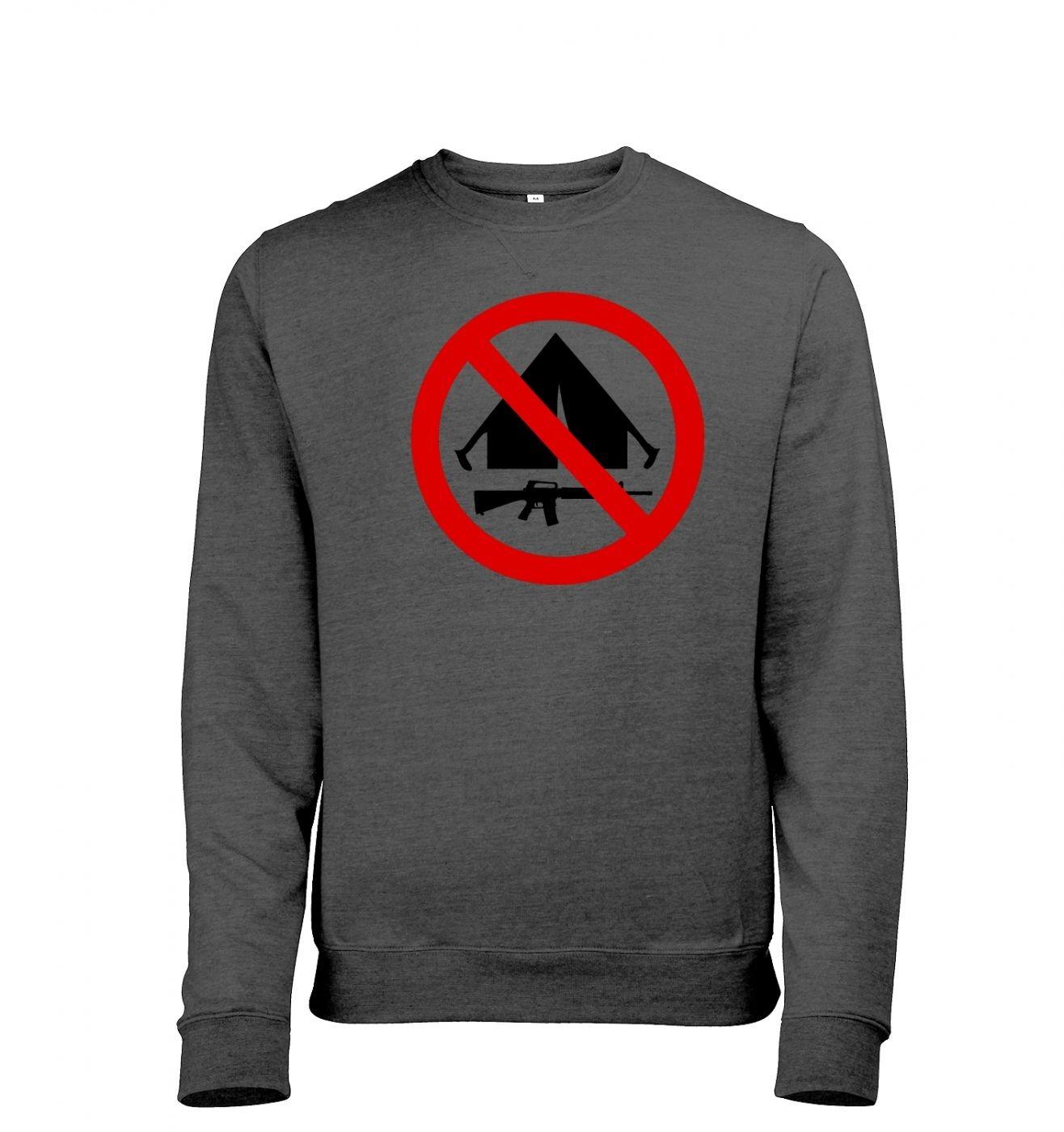 No Camping men's heather sweatshirt