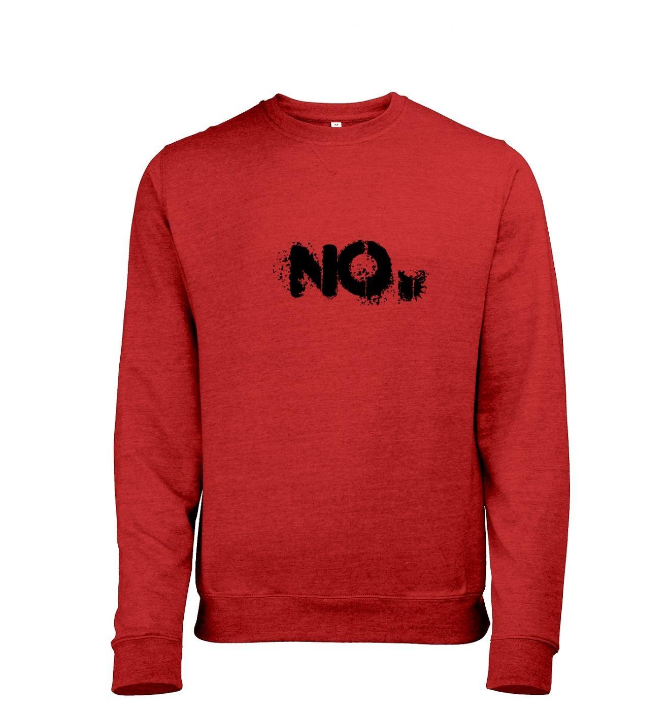 NO mens heather sweatshirt