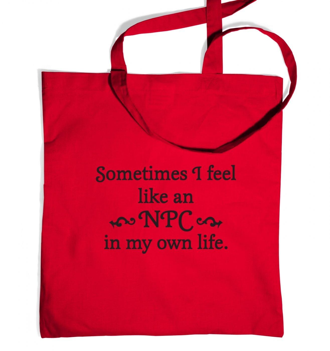 NPC in my own life tote bag